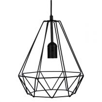 Lampe Suspension Métal 26cm Noir