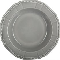 "Lot de 6 Assiettes Creuses ""Camp"" 23cm Gris"