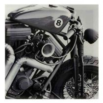 "Tableau Photo Plexiglas ""Moto"" 75x75cm"