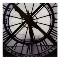 "Tableau Photo Plexiglas ""Horloge"" 75x75cm"