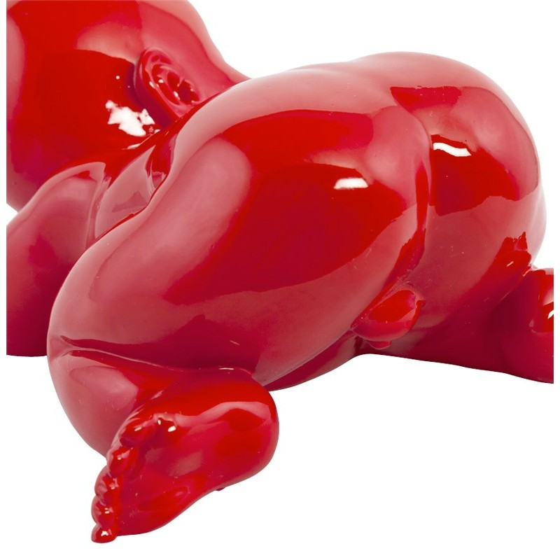 Statue d co b b rouge - Objet deco design rouge ...