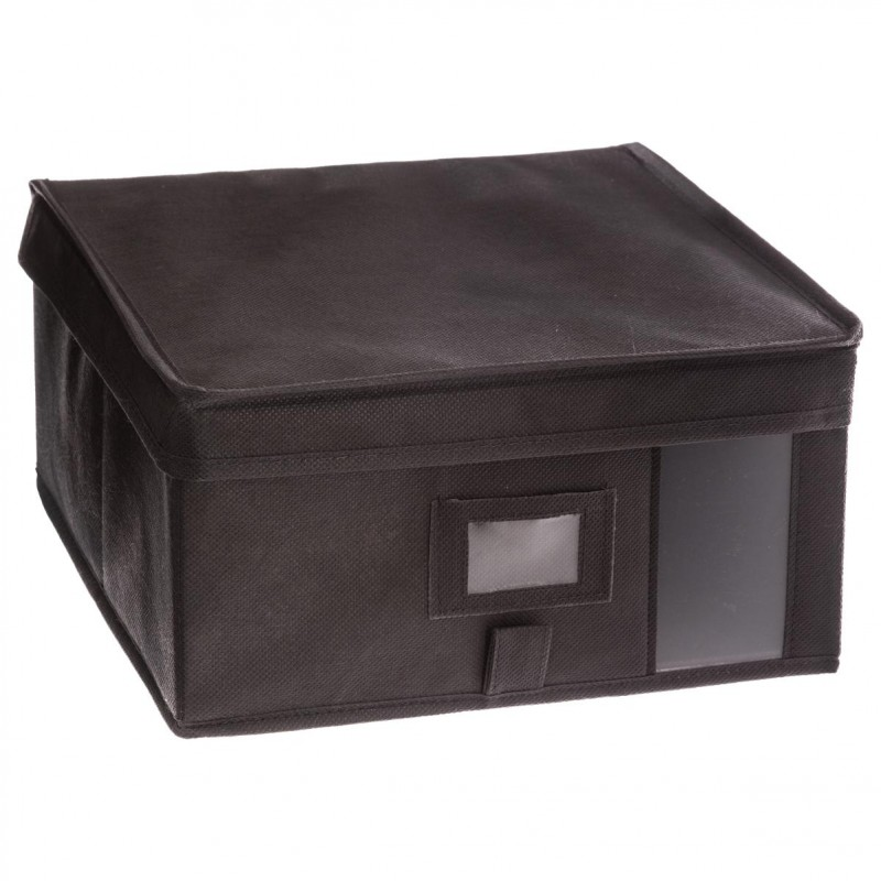bo te de rangement dressing 30x30cm gris anthracite. Black Bedroom Furniture Sets. Home Design Ideas