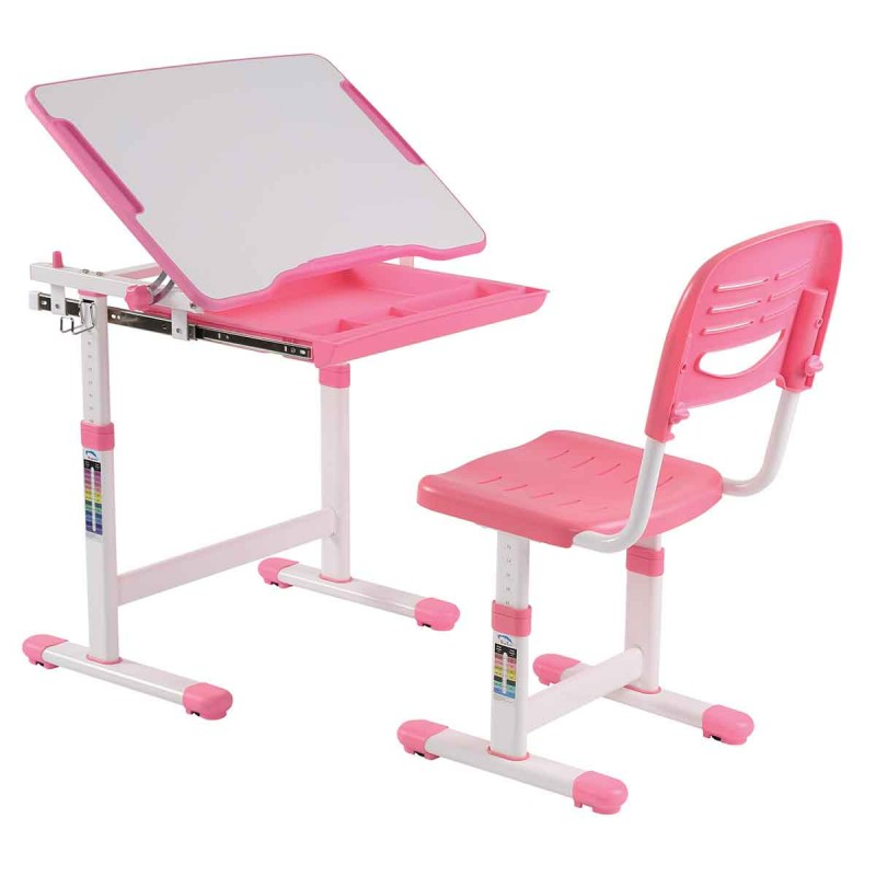 Bureau chaise enfant comfortline 66cm rose - Chaise bureau enfant but ...