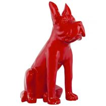 "Statue Déco ""Dog"" Rouge"