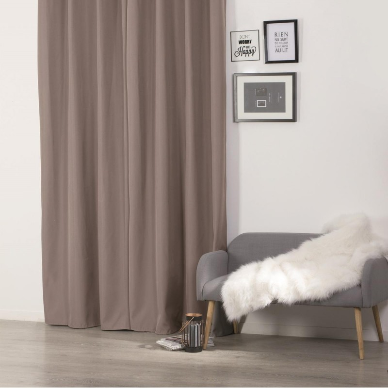 Rideau isolant 140x260cm taupe - Rideaux occultants isolants ...