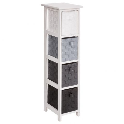 meuble de rangement 4 tiroirs aqua b 89cm noir. Black Bedroom Furniture Sets. Home Design Ideas