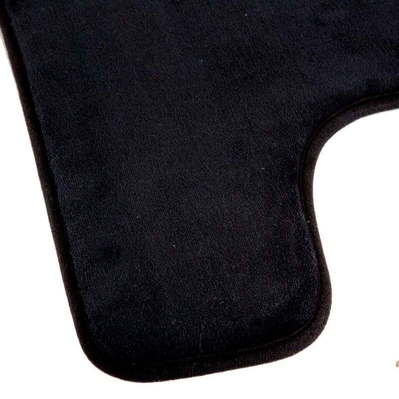 tapis contour wc m moire 48x48cm noir. Black Bedroom Furniture Sets. Home Design Ideas