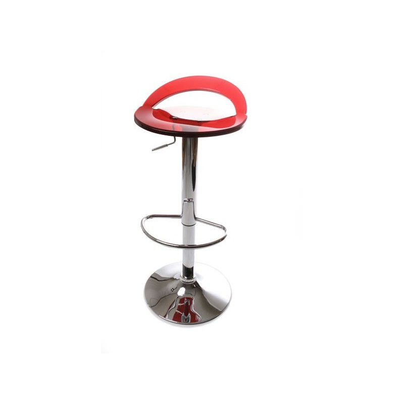 Tabouret de bar plexiglas rouge - Tabouret de bar design rouge ...