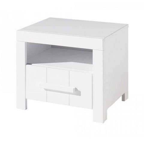 "Table de Chevet ""Erik"" 50cm Blanc"