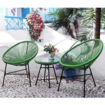 "Ensemble 2 Fauteuils & 1 Table ""Scoobidoo"" Vert"