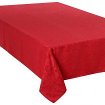 "Nappe Anti-Tâches ""Jacquard Arabesque"" 150x300cm Rouge"