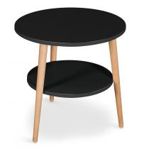 "Table Basse d'Appoint ""Duddy"" 45cm Noir"