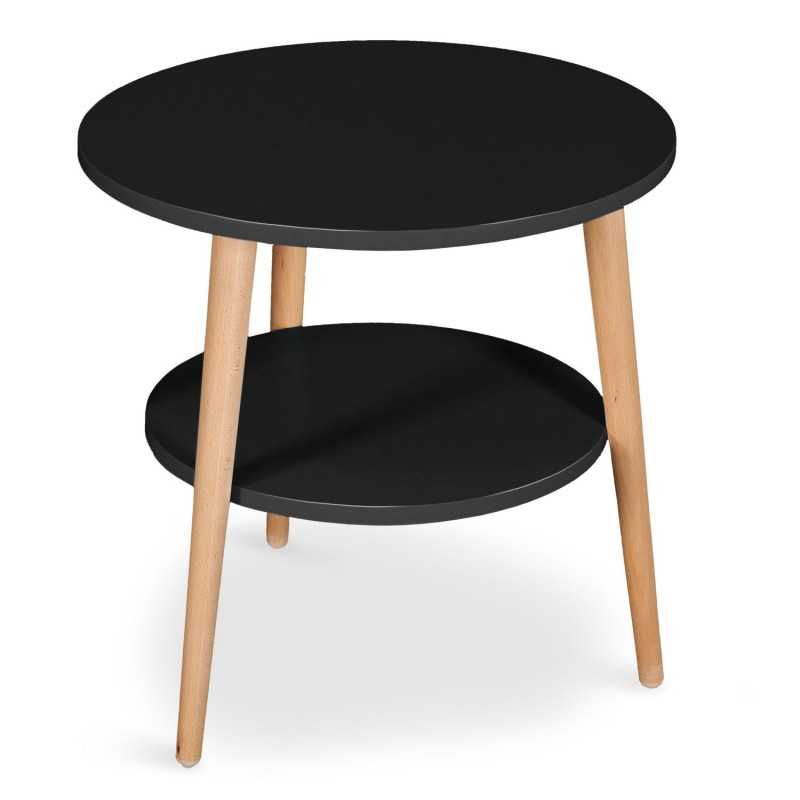 table basse d 39 appoint duddy 45cm noir. Black Bedroom Furniture Sets. Home Design Ideas