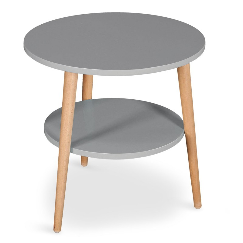 Table basse d 39 appoint duddy 45cm gris for Tables scandinaves pas cher