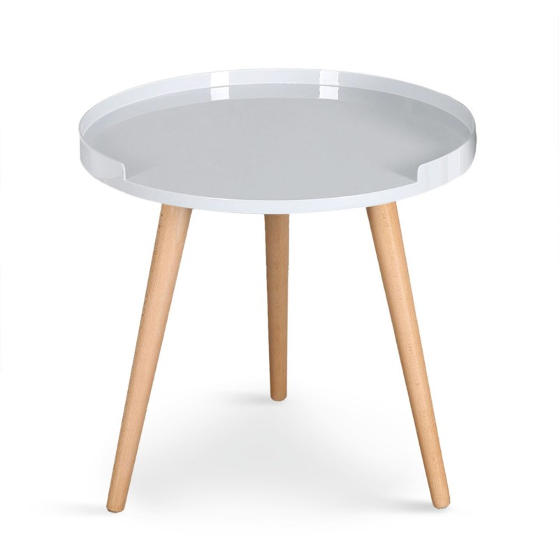 Table d 39 appoint scandinave beatrice 47cm blanc - Table d appoint scandinave ...