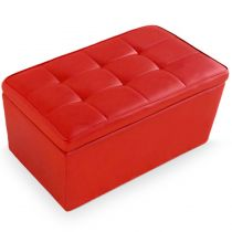 "Banquette Coffre ""Prunille"" 85cm Rouge"