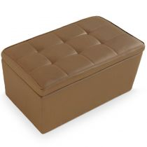 """Banquette Coffre """"Prunille"""" 85cm Taupe"""