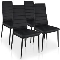 "Lot de 4 Chaises Design ""Kaïus"" 95cm Noir"