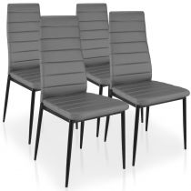 "Lot de 4 Chaises Design ""Kaïus"" 95cm Gris"
