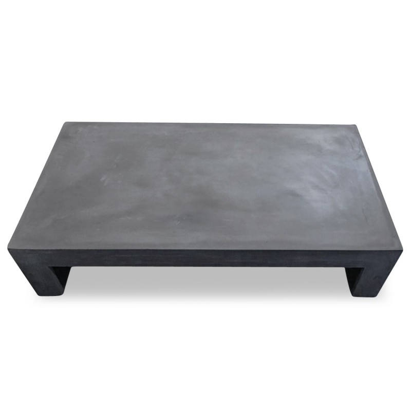 table basse effet b ton jakarta 130cm gris fonc. Black Bedroom Furniture Sets. Home Design Ideas