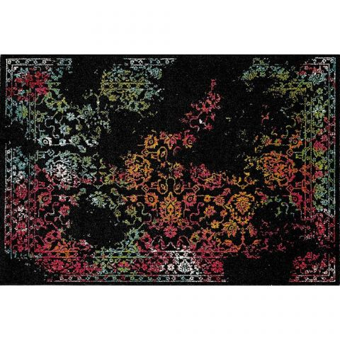 "Tapis Rectangulaire ""Eldely Color"" 120x170cm Noir"