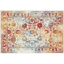 "Tapis Rectangulaire ""Eldely Blossom"" 120x170cm Blanc"