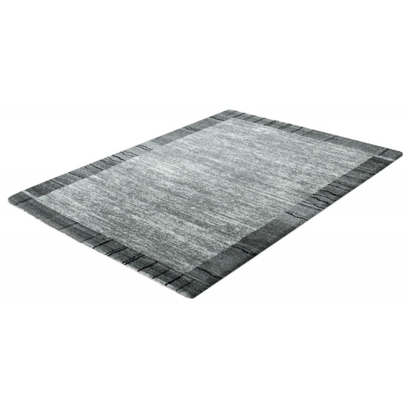 Tapis rectangulaire ligura grey 120x170cm gris for Tapis de cuisine rectangulaire