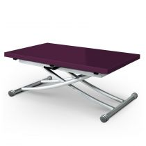 "Table Basse Rectangulaire ""Higher"" 114cm Violet Laqué"