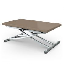 """Table Basse Rectangulaire """"Higher"""" 114cm Taupe Laqué"""