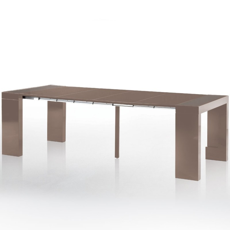 Console extensible embley 50 250cm taupe - Console extensible taupe ...