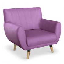 "Fauteuil Design ""Rony"" 81cm Lilas"