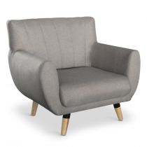 """Fauteuil Design """"Rony"""" 81cm Taupe"""