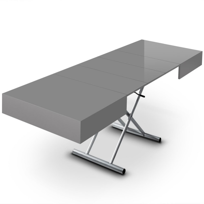 Table basse extensible pimlico 120 220cm gris - Table basse extensible relevable ikea ...