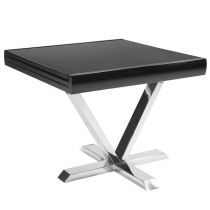 "Table d'Appoint Extensible ""Emery"" 90-180cm Noir"