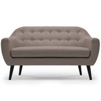 "Canapé 3 Places Scandinave ""Chestwick"" 195cm Taupe"