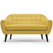 "Canapé 3 Places Scandinave ""Chestwick"" 195cm Jaune"