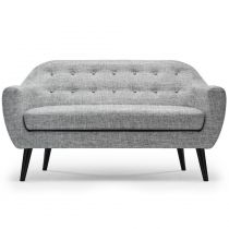 "Canapé 3 Places Scandinave ""Chestwick"" 195cm Gris Clair"
