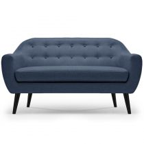 "Canapé 3 Places Scandinave ""Chestwick"" 195cm Bleu"