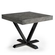 "Table d'Appoint Extensible ""Shoreditch"" 90-180cm Béton"
