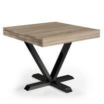 "Table d'Appoint Extensible ""Shoreditch"" 90-180cm Chêne Clair"