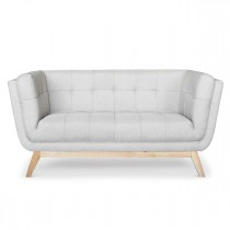 "Canapé 2 Places Scandinave ""Dakota"" 146cm Gris"