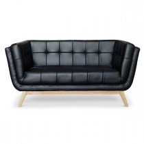 "Canapé 2 Places Scandinave ""Dakota"" 146cm Noir"