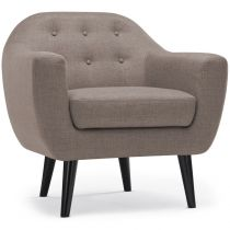 "Fauteuil Design ""Chestwick"" 86cm Taupe"