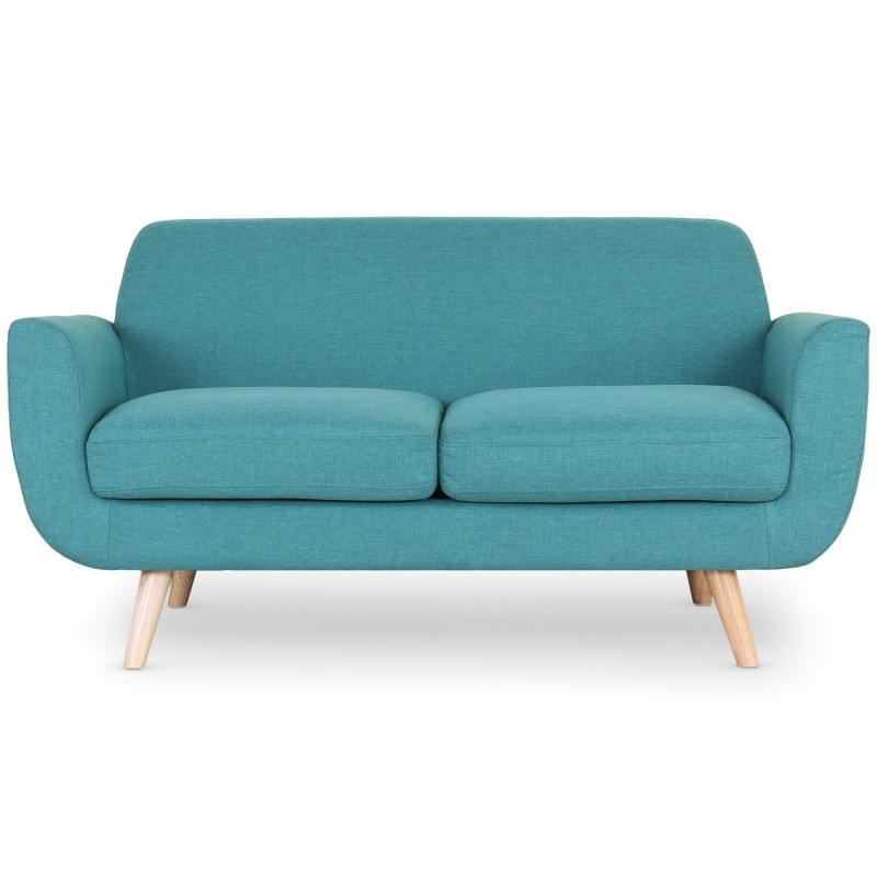 canap 2 places scandinave miramas 160cm bleu vert. Black Bedroom Furniture Sets. Home Design Ideas