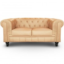 "Canapé 2 Places ""Chesterfield"" 157cm Beige"