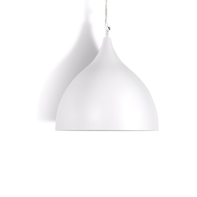 Lampe suspension cloche blanc for Suspension de lampe
