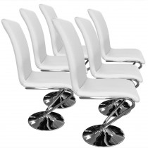 "Lot de 6 Chaises Design ""Alto"" 99cm Blanc"