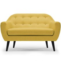 "Canapé 2 Places Scandinave ""Chestwick"" 130cm Jaune"