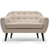 "Canapé 2 Places Scandinave ""Chestwick"" 130cm Beige"