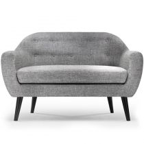 "Canapé 2 Places Scandinave ""Chestwick"" 130cm Gris Clair"